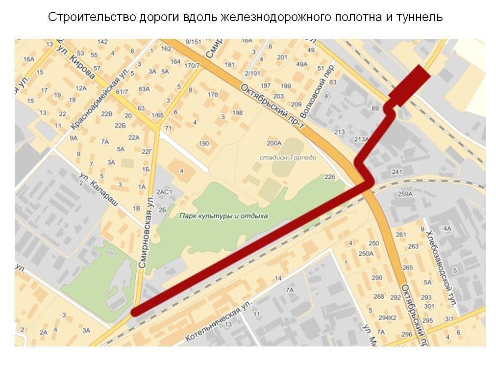 Дорога в обход Октябрьского: